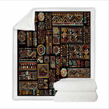 Super Soft Sweatshirt Cover Blanket Bedding Set for Hospital with 3D Digital Printing African American Culture
