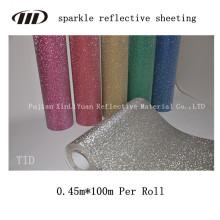 Sparkle feuilles réfléchissantes pour la décoration de vêtements chaussures sacs