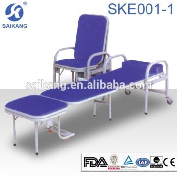 SKE001-1 Hochwertige moderne Design Mehrzweckbegleiter Krankenhaus faltbare Sofa cum Stuhl Bett