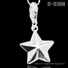 Pendentif en forme d'étoile en argent sterling 925 unique (H-0368)