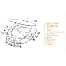 Transmissor FM viva-voz Bluetooth para rádio de carro