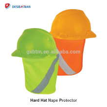 High Visibility Reflective Hard Hat Sun Shade Stow-Away Perfect Brim Protects Ears Neck Face Safety Orange Yellow