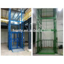elevador de riel de guía / carga elevador hidráulico de tipo riel / plataforma plataforma de elevador de riel de guía