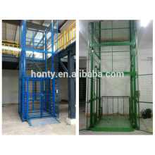 guide rail elevator / Cargo Hydraulic Rail-type lift /platform guide rail lift platform