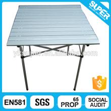 MDF Board mesa de jantar dobrável de alumínio