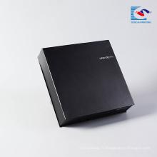Cadeaux noirs épais de montre de luxe noir mat cartons