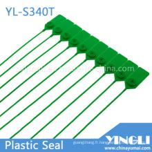 Scellés de sécurité en plastique réglables avec marquage et impression