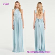 Hellblau funkelnden Multi-Way Brautjungfer Kleid