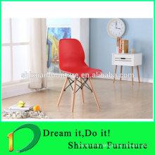 New style plastic leisure wood legs popular chair