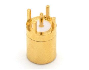Messing/vergoldeter Smb-gerades Verbindungsstück/Rf-Koax-Leiterplattenmontage-Verbindungsstück 2