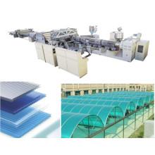 Equipamento de extrusão de folha de policarbonato plástico UV protegido