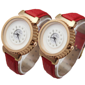 Top Selling Couples Leather Wrist Quartz Watch