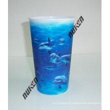 2015 Blue Lenticular Plastic Cup Holders