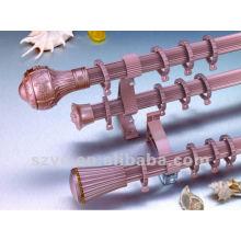 28mm colorful aluminium fluted curtain rods