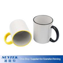 11oz Rim & Handle Color Mug Sublimation Blanks Cups and Mugs