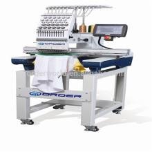 Single Head Computer Stickmaschine mit 12/15 Farben für Cap, T-Shirt, flach, Pailletten, Perlen, Cording Stickerei Preise