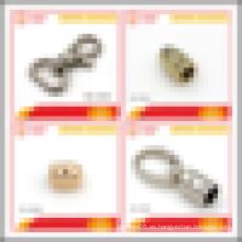 Accesorios de bolsillo de aleación de zinc corchete de cuerda de metal