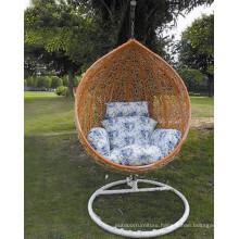 Metal Frame Rattan Chair Single Swing