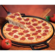 Pan de pizza de hierro fundido