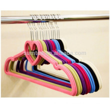 velvet flocked customized colored clothes hangers