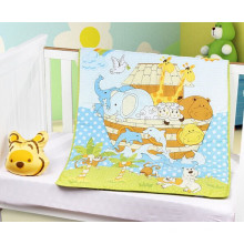 Patchwork Baby Quilt Patterns Green Animals for Baby Unisex