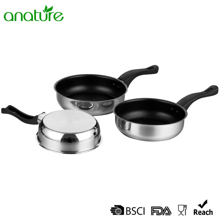 Edged Polished Non Stick Frying Pan