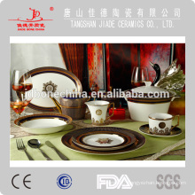 Embossed luxurious royal bone china coffee set dinnerware