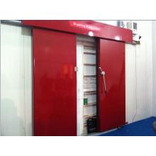 Porta deslizante elétrica usada para o quarto frio