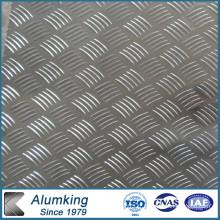 Five Bar 3003 Checker Plaque en aluminium pour antipatinage