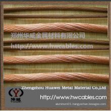 Soft copper wire as earthing wire