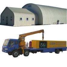 120 kq span building machine SUBM 600-305 curve roof galvanized iron parking ground/area/lot roof building machine