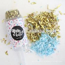Poussez le support acrylique de récipient de bruit, traitez le support, support de gâteau rose et bleu