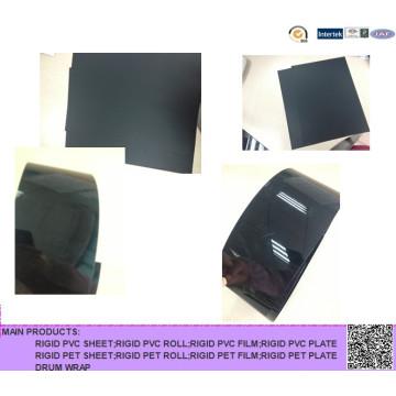 Feuille rigide en PVC noir