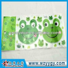 Etiqueta engomada de la popular rana impresas para la decoración, nueva etiqueta engomada de encargo del PVC