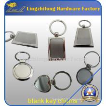 Keychain blanc de haute qualité en métal comme Giveaway bon marché
