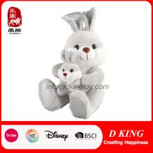 Pascua felpa juguete grande y pequeño conejo relleno de conejo de Pascua al por mayor