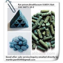 Горячая продажа, эффективный крысиный яд, Brodifacoum 98% TC, 0.005% Bait, CAS 56073-10-0