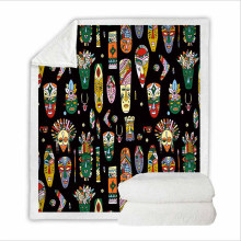 Super Soft Polar Fleece Cover Blanket Bedding Set King Size with 3D Digital Printing Culture in Africa