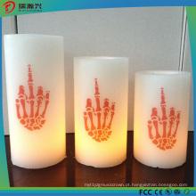 Luz colorida da vela do diodo emissor de luz da cera real para a decoração