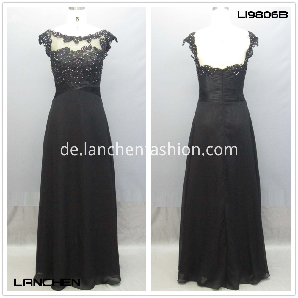 Satin Gown Dress black