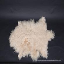 Piel de piel de mongol rizada de pelo largo