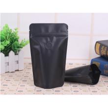 100g-150g schwarzer Kaffeebeutel mit Reißverschluss und Ventil