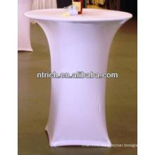 Lycra spandex high bar cocktail table cloth for wedding