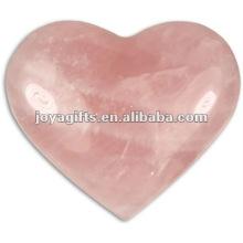 40MM cuarzo rosa Corazones de piedra