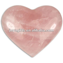 Puffy Heart shaped rose quartz stone 35MM
