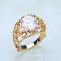 Anel de liga de zinco estilo moda banhado a ouro estilo de país JWZ0028
