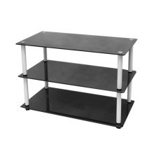 Triple Layer Glass LED TV Stand
