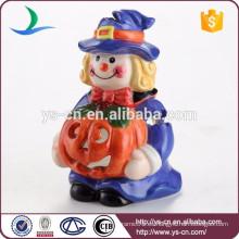 Sostenedor de vela de cerámica colorido de la Navidad del payaso encantador para los regalos