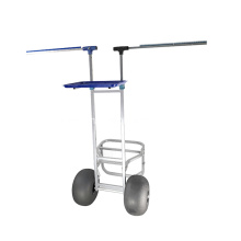 Anti-Rust Foldable Fishing Trolley Beach Trolley Cart with 2 Wheels