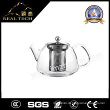 Heißer Verkaufs-gute Qualitätsglas u. Edelstahl-Teekanne